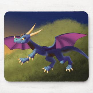Dragão roxo/azul 11/14/15 mouse pad