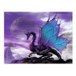 Dragão roxo cartão postal