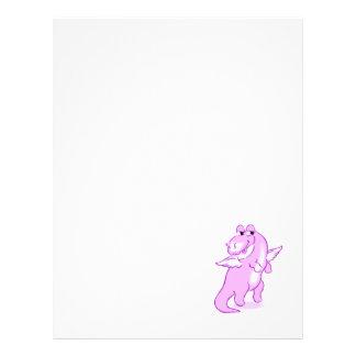 Dragão roxo pequeno bonito modelos de panfleto