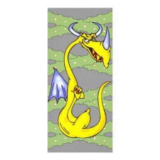 Dragão teimoso 10.16 x 22.86cm panfleto