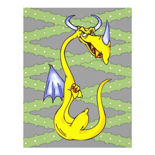 Dragão teimoso panfleto coloridos