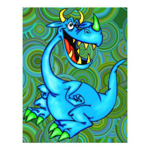 Dragão temível panfletos coloridos