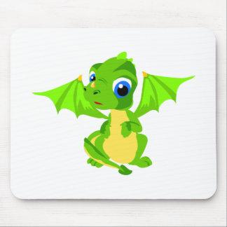 Dragão tímido do bebê mousepad