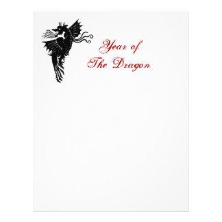 Dragão tribal modelo de panfleto