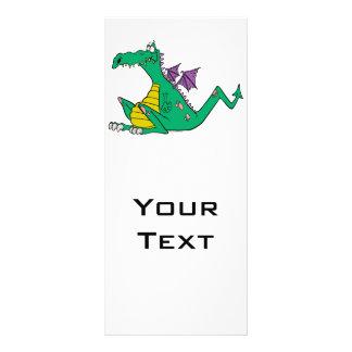 dragão verde dos desenhos animados patetas parvos 10.16 x 22.86cm panfleto