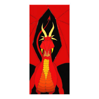 Dragão vermelho 10.16 x 22.86cm panfleto