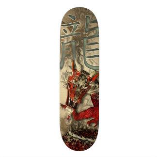Dragão vermelho chinês skateboard