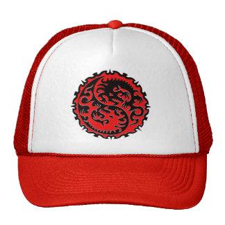 Dragão vermelho e preto de Yin Yang Bone