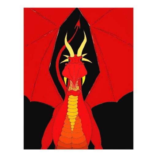 Dragão vermelho modelo de panfletos