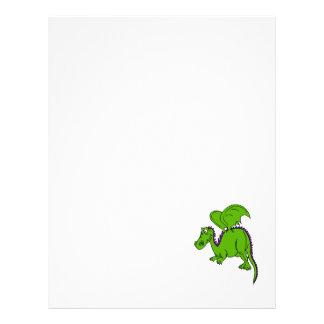 Dragão voado verde panfletos