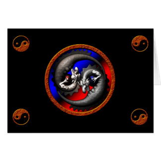 Dragão Yin-Yang Cartão Comemorativo
