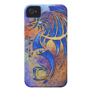 Dragissous V1 - dragão azul Capinha iPhone 4