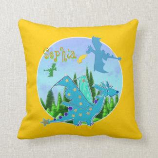 Dragões bonitos com o Sophia conhecido customizáve Travesseiro De Decoração
