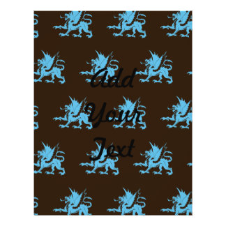 Dragões Brown azul Panfletos Coloridos