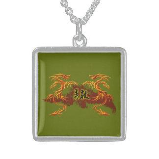Dragões da colar 2, fogo, símbolo chinês bravo