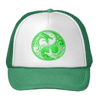 Dragões de Yin Yang, verdes Boné