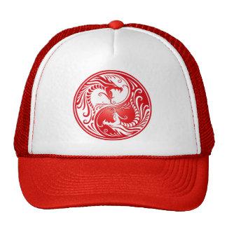 Dragões de Yin Yang, vermelhos Boné