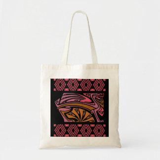 dragões na sacola vermelha do nouveau da arte do bolsa para compra