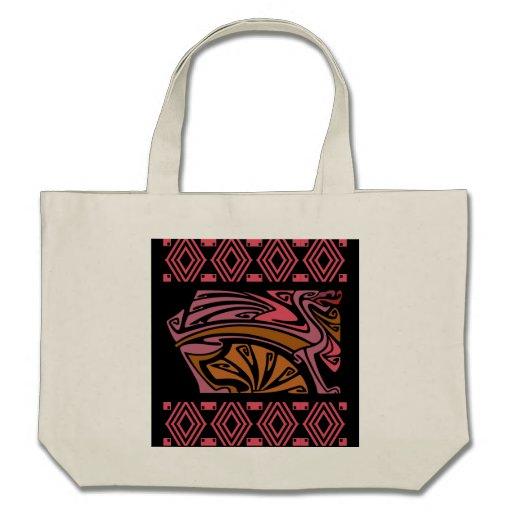dragões na sacola vermelha do nouveau da arte do v bolsa para compra