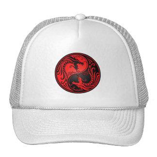 Dragões vermelhos e pretos de Yin Yang Bonés
