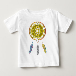 Dreamcatcher com três penas camisetas
