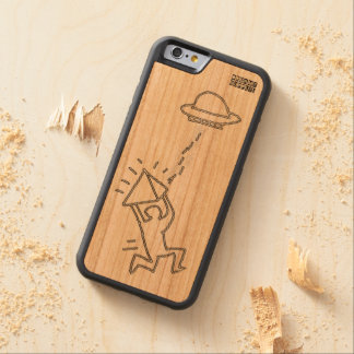 DreamySupply funciona a caixa de madeira ausente Capa De Cereja Bumper Para iPhone 6