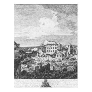 Dresden, as ruínas do Pirnaische Vorstadt Cartão Postal