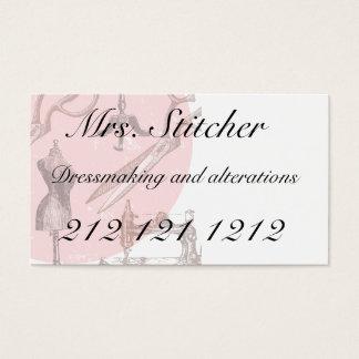 Dressmaking ou cartão de visita temático sewing
