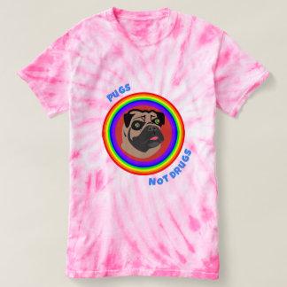 Drogas dos Pugs não! Camiseta