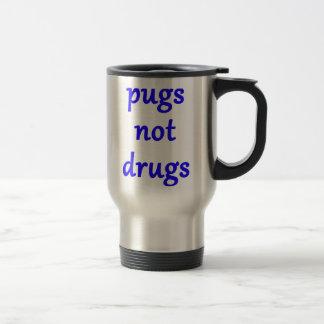 drogas dos pugs não caneca térmica