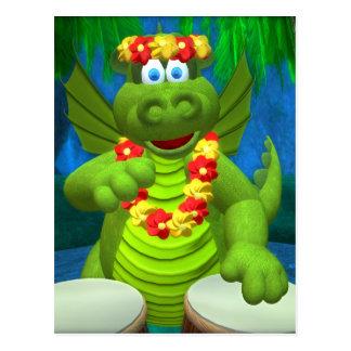 Drolly baterista dos dragões cartão postal