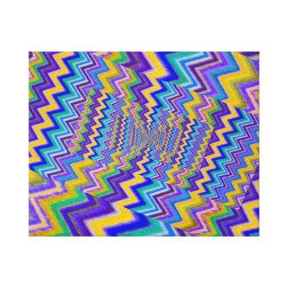 droste colorido do efeito em canvas