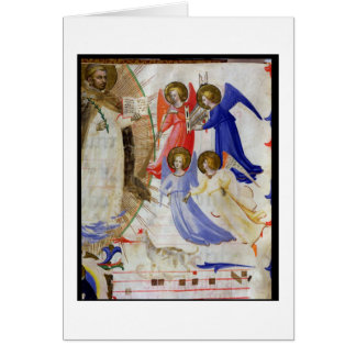 ds 558 f.67v St Dominic com quatro anjos musicais, Cartão