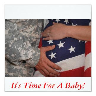 DSC_0293copy, é hora para um bebê! Convite Quadrado 13.35 X 13.35cm