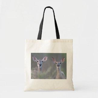 Duas caras Branco-Atadas do fazer dos cervos Bolsa De Lona