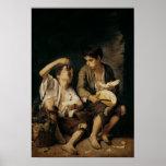 Duas crianças que comem um melão e as uvas, 1645-4 impressão