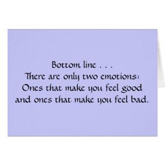 Duas emoções cartão comemorativo