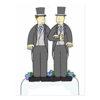 Duas felicitações do casamento gay dos noivos cartão postal