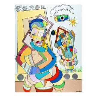 """""""Duas figuras: O e Ru"""" por Ruchell Alexander Cartão Postal"""