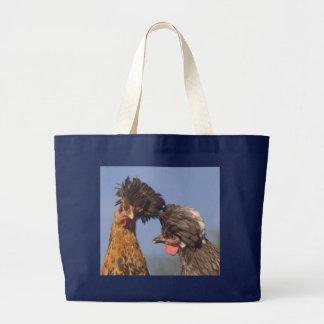 Duas galinhas polonesas bolsa para compras