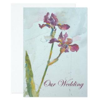 duas íris roxas que wedding o convite