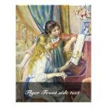 Duas meninas no piano, por Pierre-Auguste Renoir Panfleto Coloridos