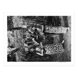 Duas mulheres havaianas com fotografia de cartão postal