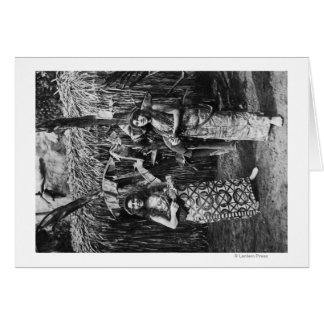 Duas mulheres havaianas com fotografia de Ukalalee Cartão Comemorativo