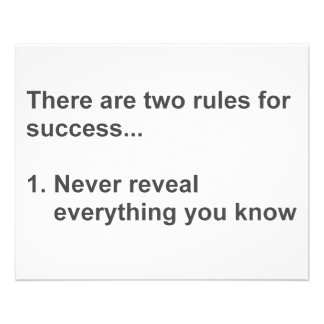 Duas regras para o sucesso revelado flyer 11.43 x 14.22cm