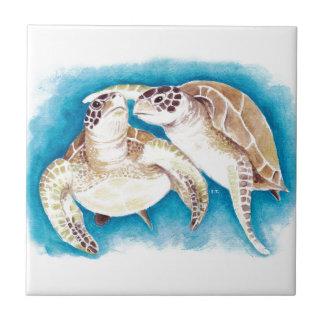 Duas tartarugas de mar