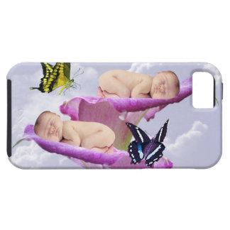 Duas vezes a alegria com gêmeos do bebê rega o capa para iPhone 5