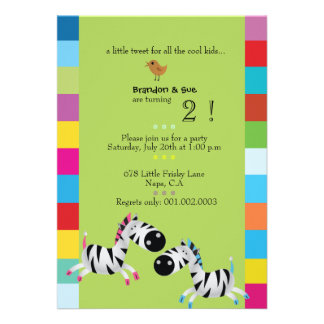 Duas zebras - a festa de aniversário dos gêmeos do