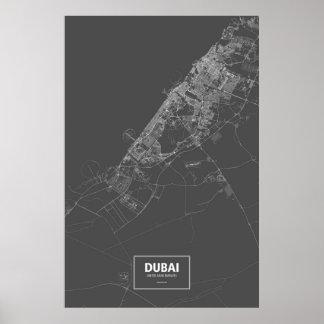 Dubai, United Arab Emirates (brancos no preto) Poster