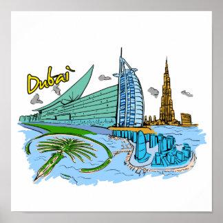 Dubai - United Arab Emirates .png Poster